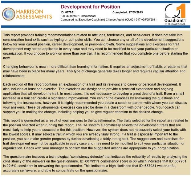 Development for Position